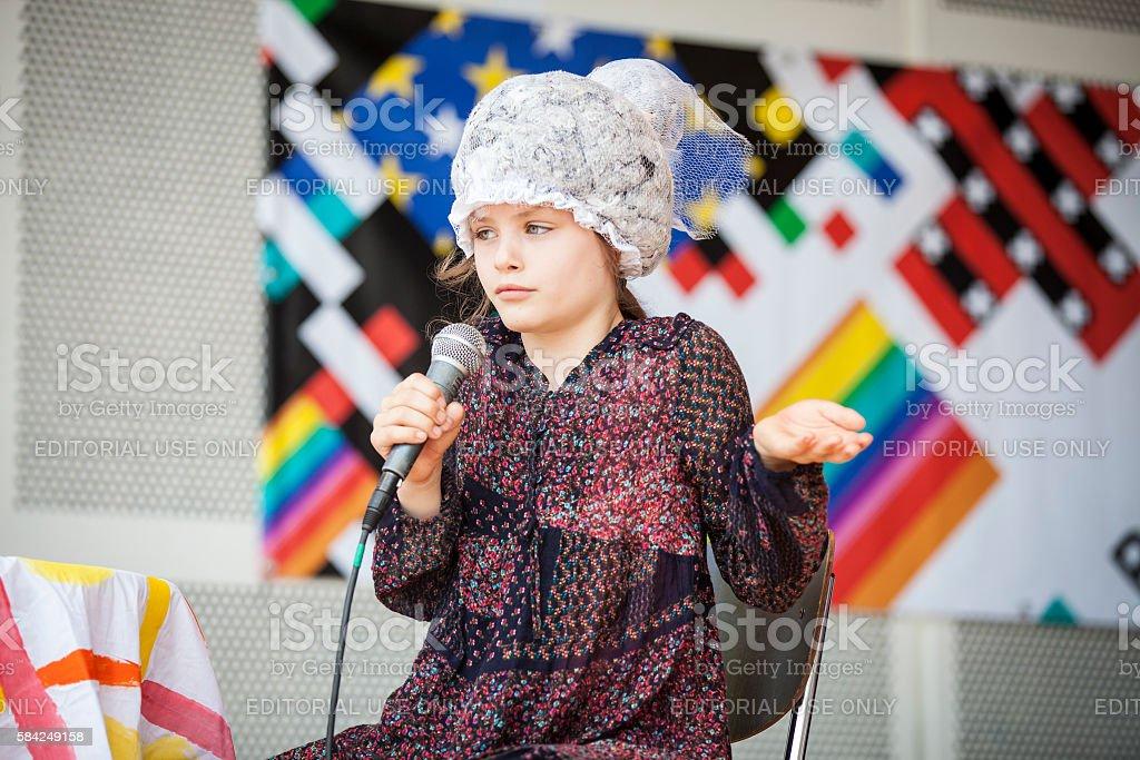 theater play with children, Vondelpark open air Theatre Gay EuroPride stock photo