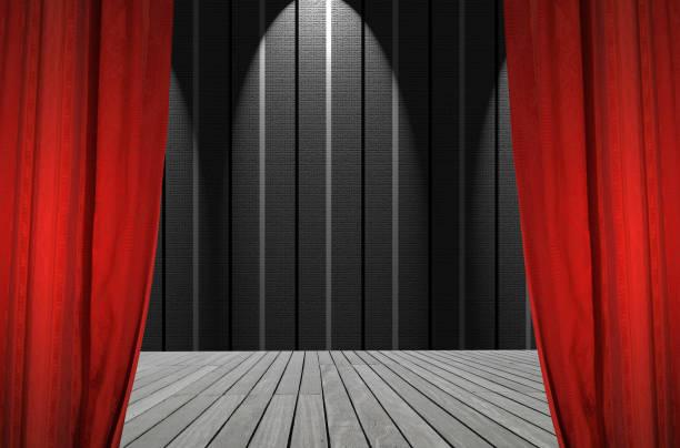 theater scene - sipario foto e immagini stock
