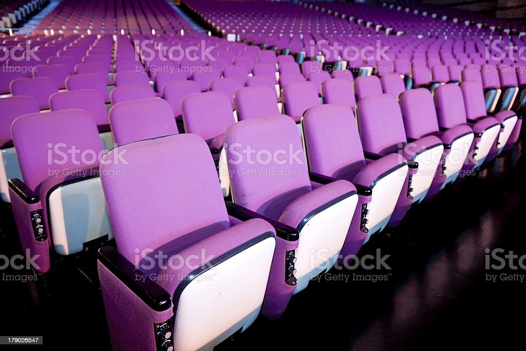 Theater Seat royalty-free stock photo