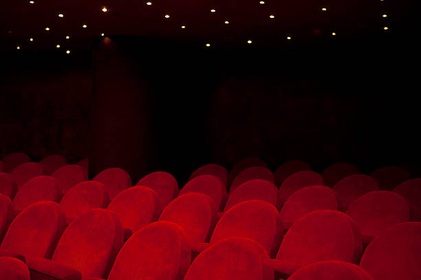 theater seat - film festival stock photos and pictures