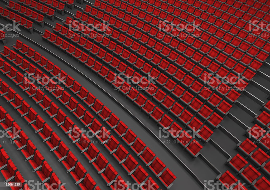 Theater seating stock photo