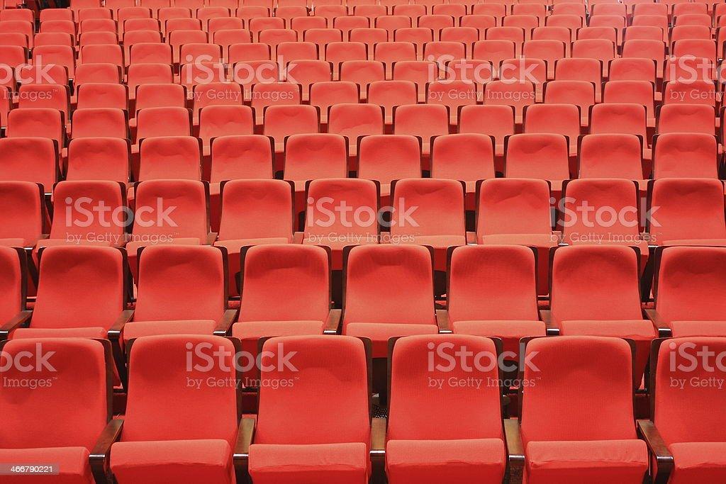 Theater seats stock photo