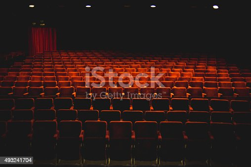 Classic Empty Theater With Red Seats