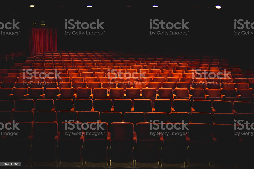 Theater Seats stock photo