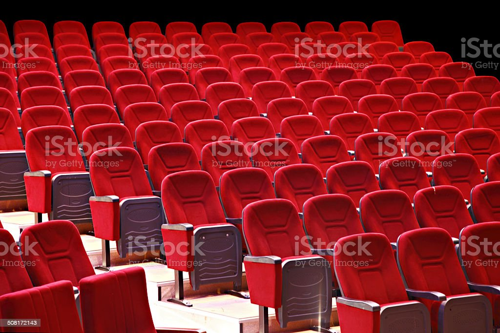 Theater Seats royalty-free stock photo