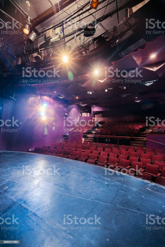 Places de théâtre vus partir de scène photo libre de droits