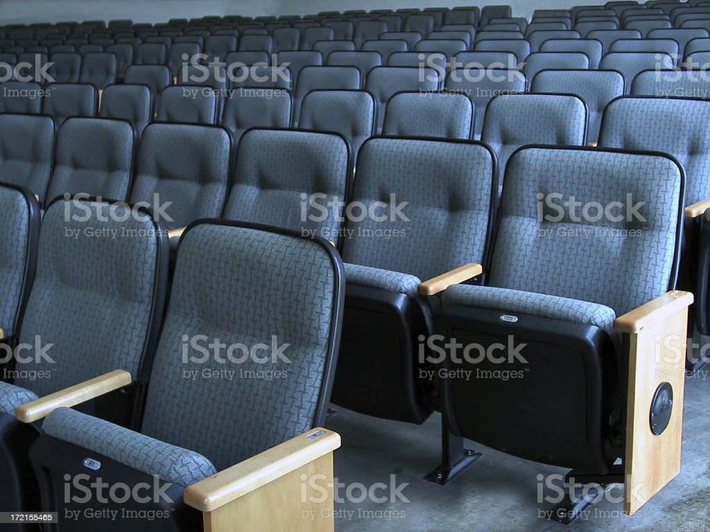 Theater Seats-BlueGray stock photo