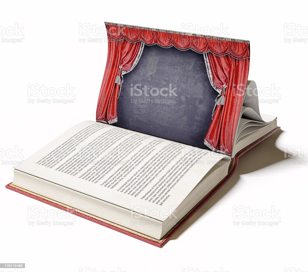 Theater stage as a book stock photo