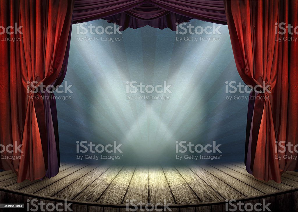 Theater stage concept stock photo