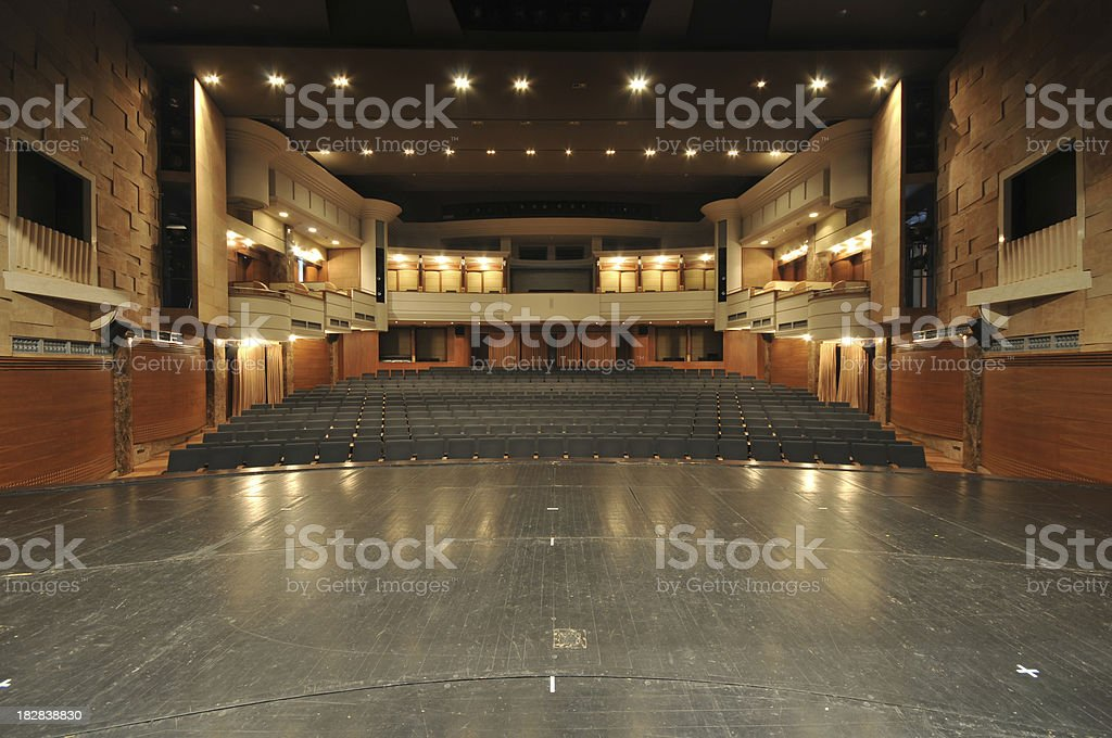 Theater stage royalty-free stock photo