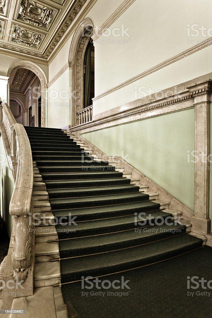Theater staircase royalty-free stock photo