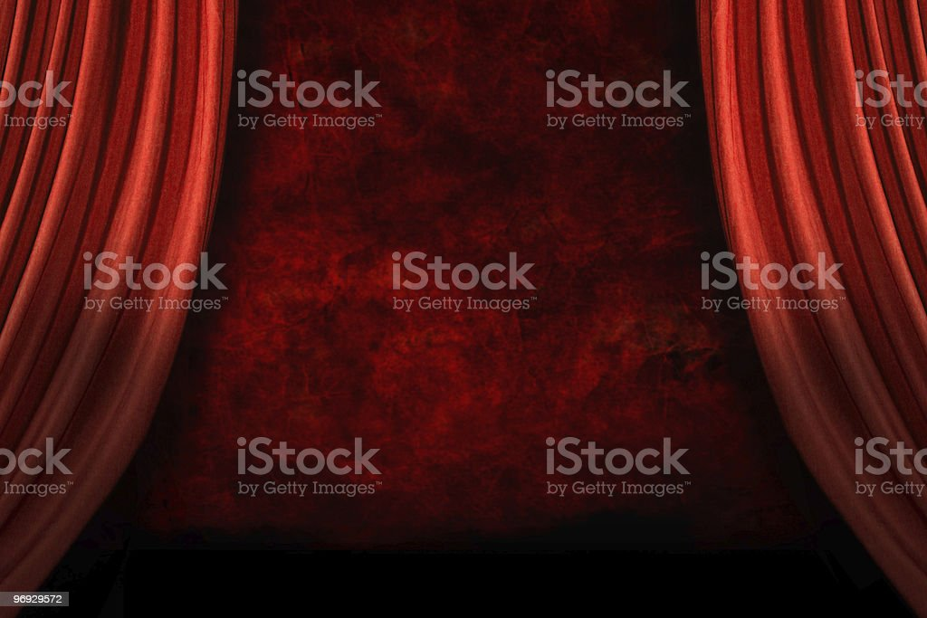Theater Swooping Swag Drapes royalty-free stock photo