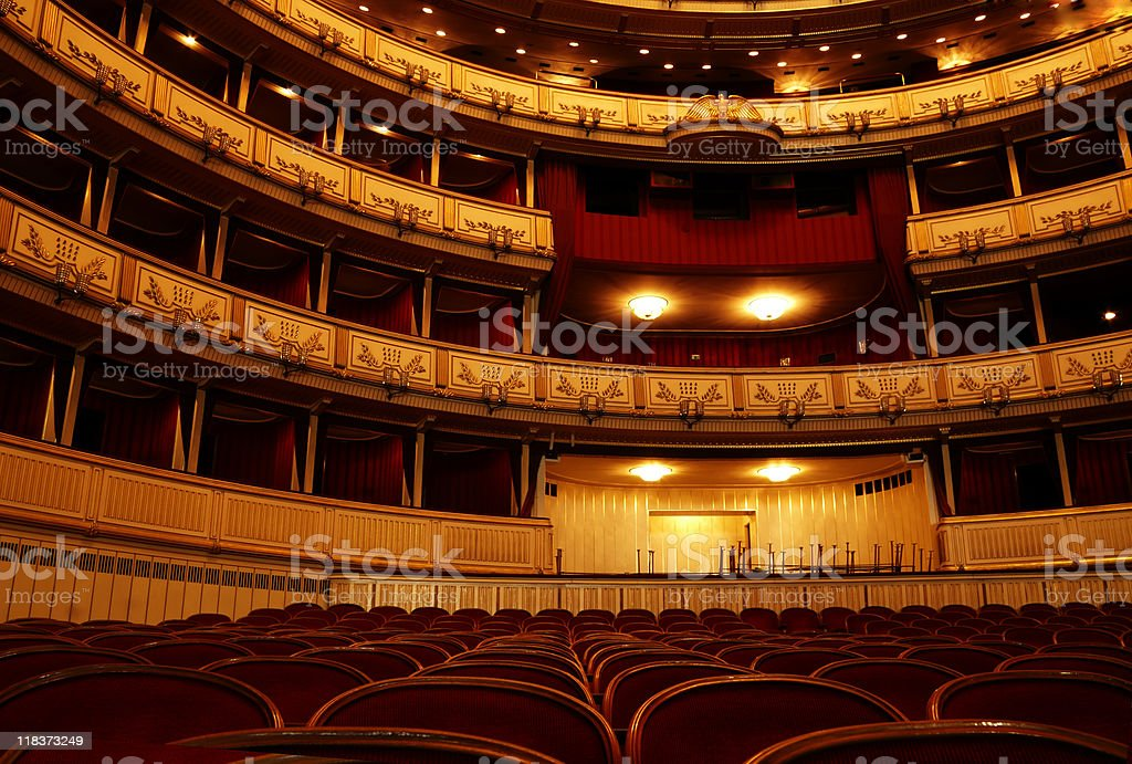 Theater view stock photo