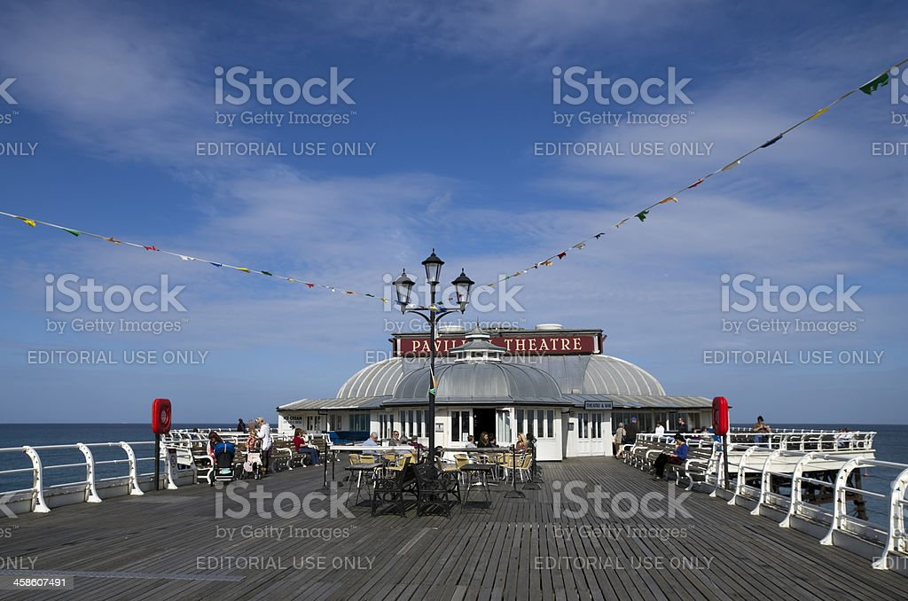 Theatre and cafe on Cromer Pier stock photo