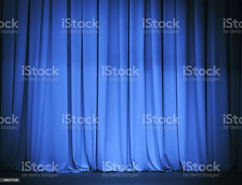 theatre blue curtain royalty-free stock photo