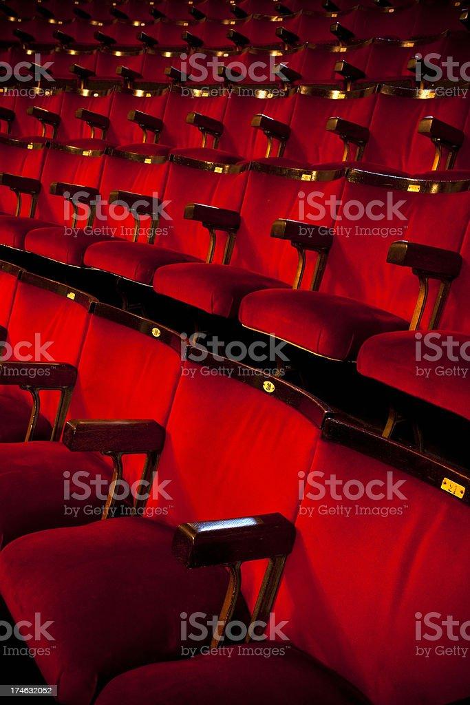 Theatre Cinema Seats royalty-free stock photo