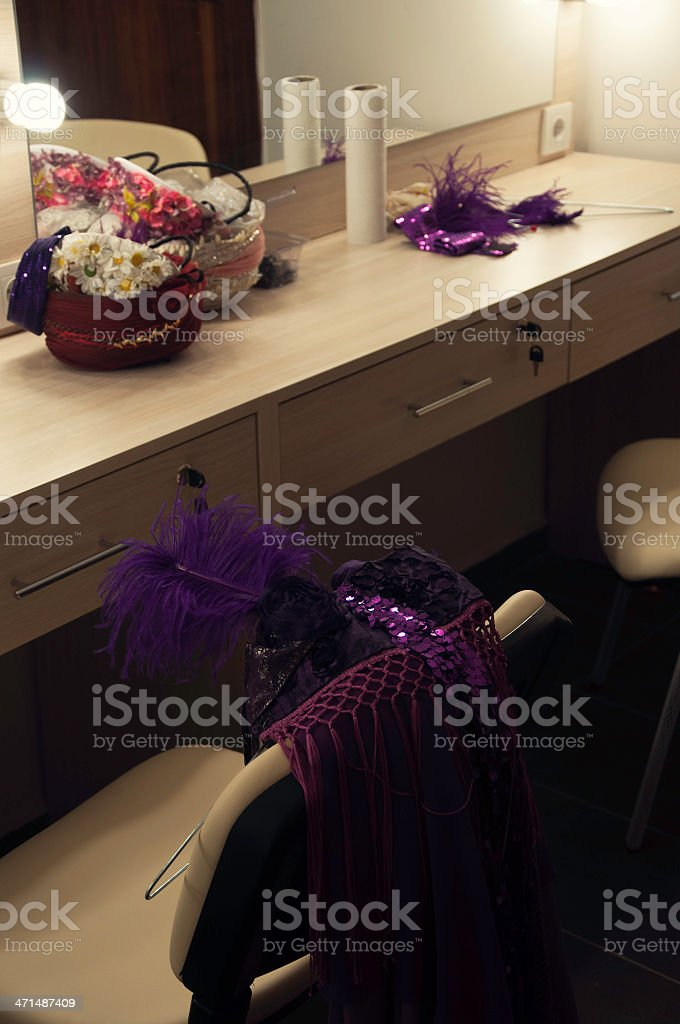 theatre costume offstage stock photo