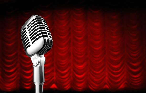 theatre curtain stock photo