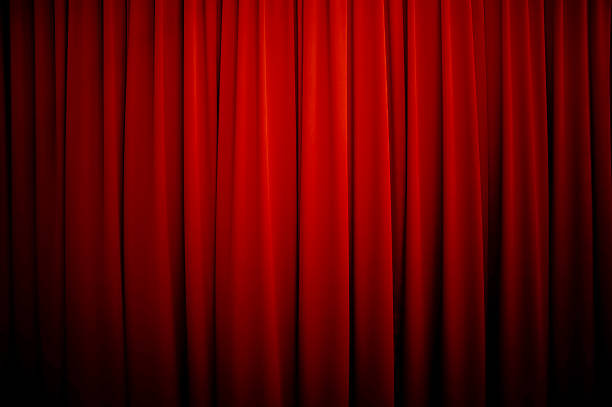 theatre curtains background - curtain stock pictures, royalty-free photos & images