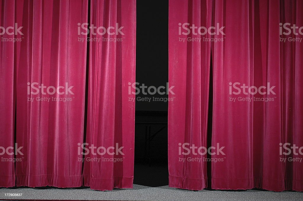 Theatre Curtains royalty-free stock photo