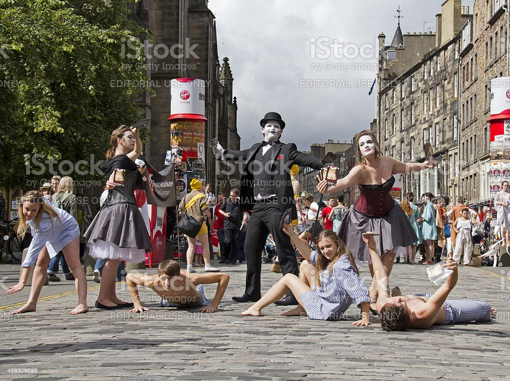 Theatre in Edinburgh stock photo