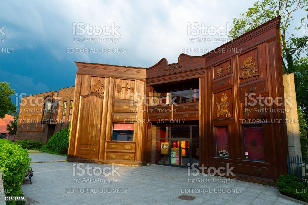 Theater In Torun Polen Die Fassade Des Gebaudes Ist Auf Einen Grossen