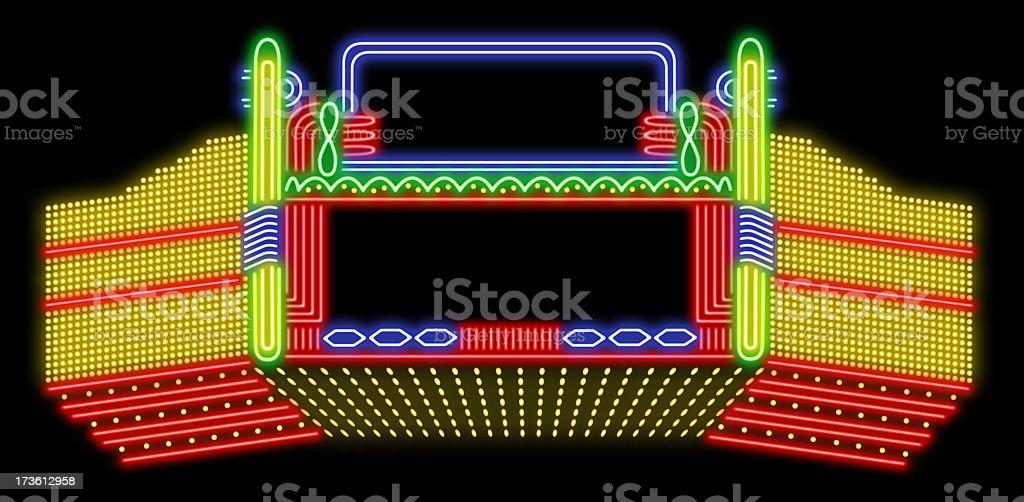 Theatre neon sign stock photo