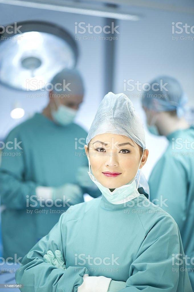 theatre nurse stock photo