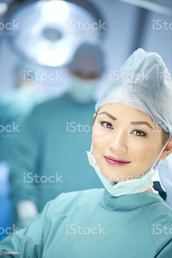 theatre nurse royalty-free stock photo