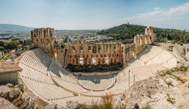 Theatre of Herod Atticus. Athens, Greece stock photo