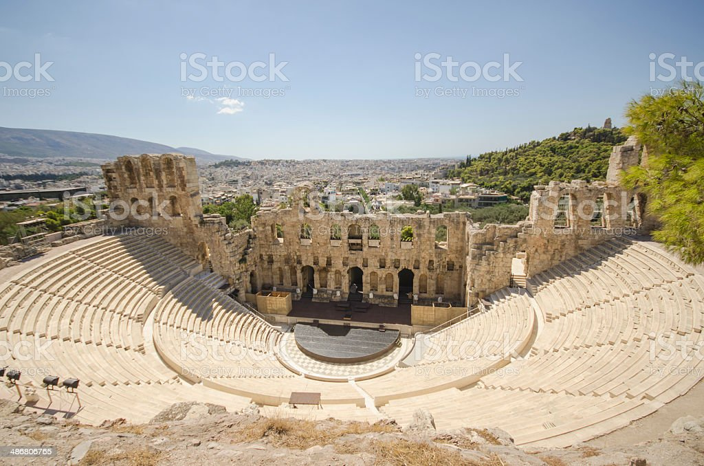 Theatre of Herod Atticus - Athens stock photo