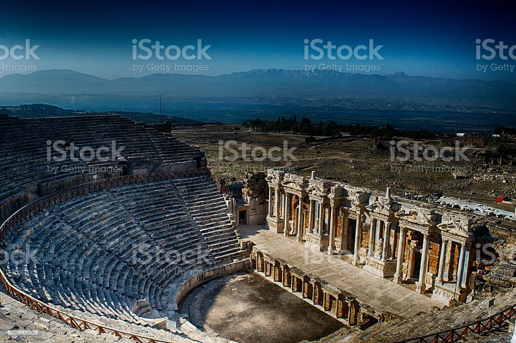 Theatre of Hierapolis stock photo