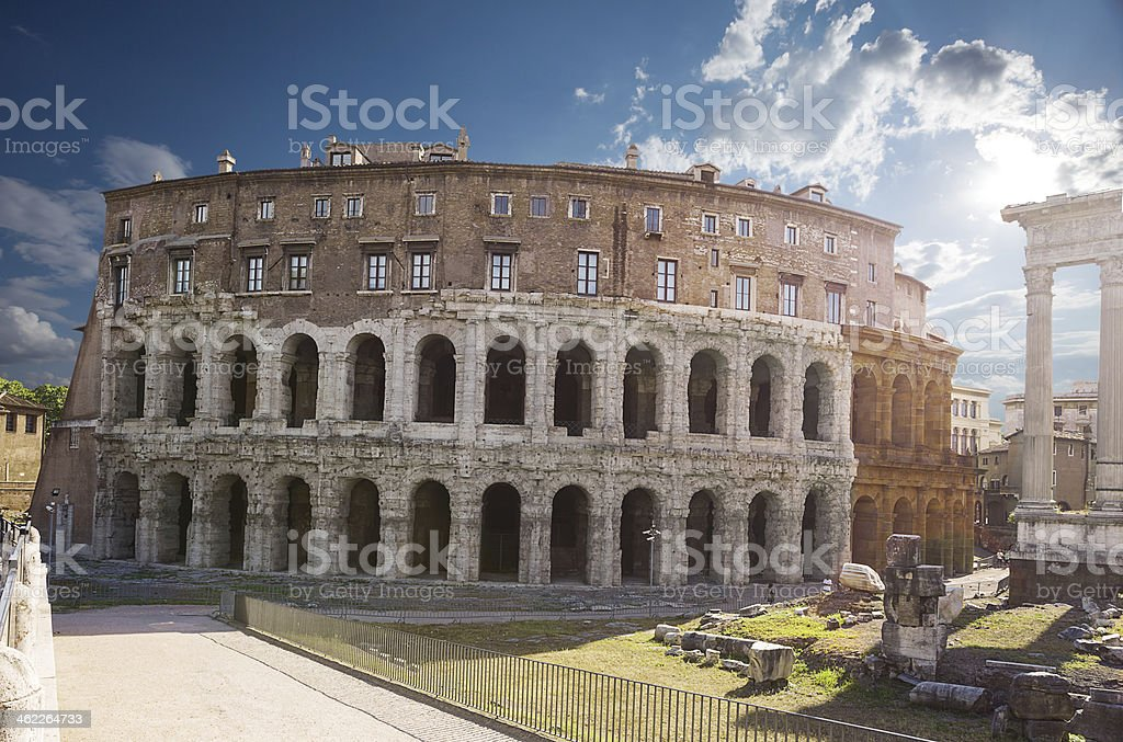 Theatre of Marcellus. Rome. Italy. stock photo