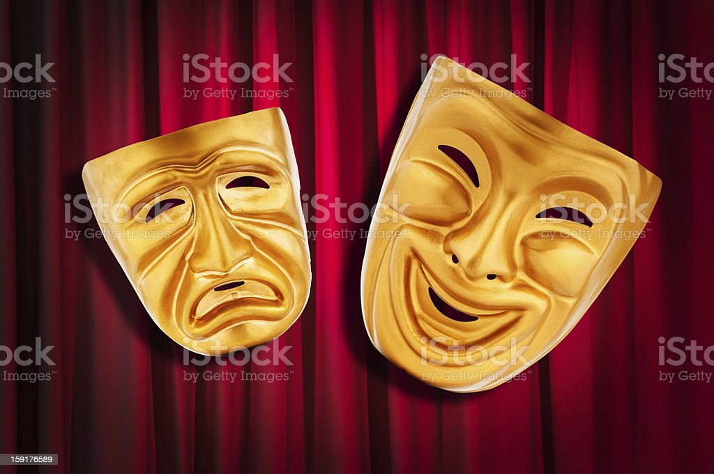Theatre performance concept with masks royalty-free stock photo