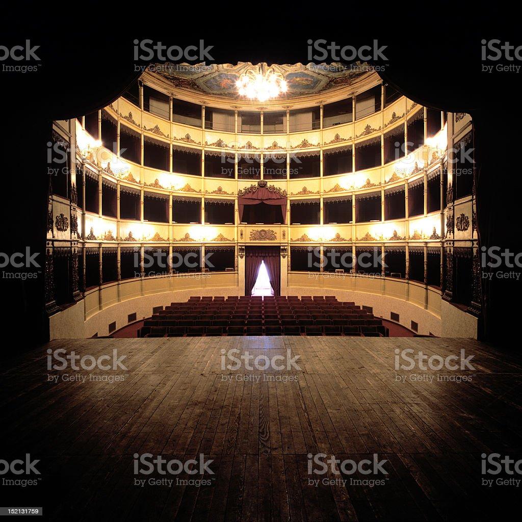 teatro Small theater in Italy (piccolo teatro di provincia italiana). Arts Culture and Entertainment Stock Photo