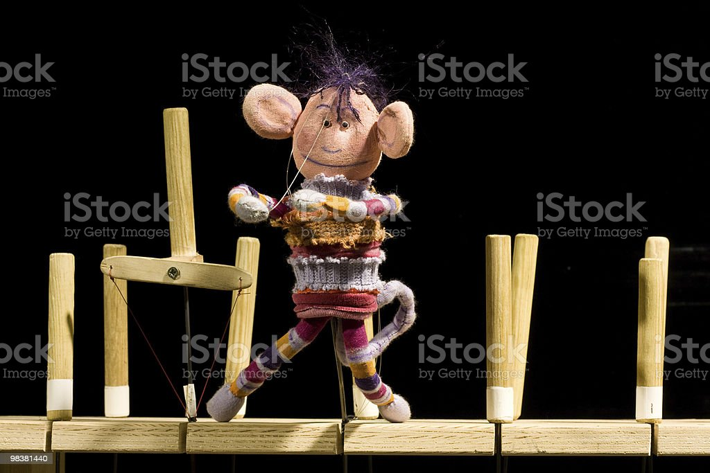 Theatre puppet playing a role royalty-free stock photo