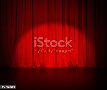 theatre red curtain or drapes background