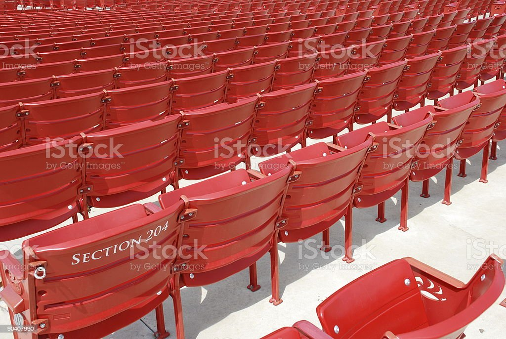 Theatre seats... stock photo