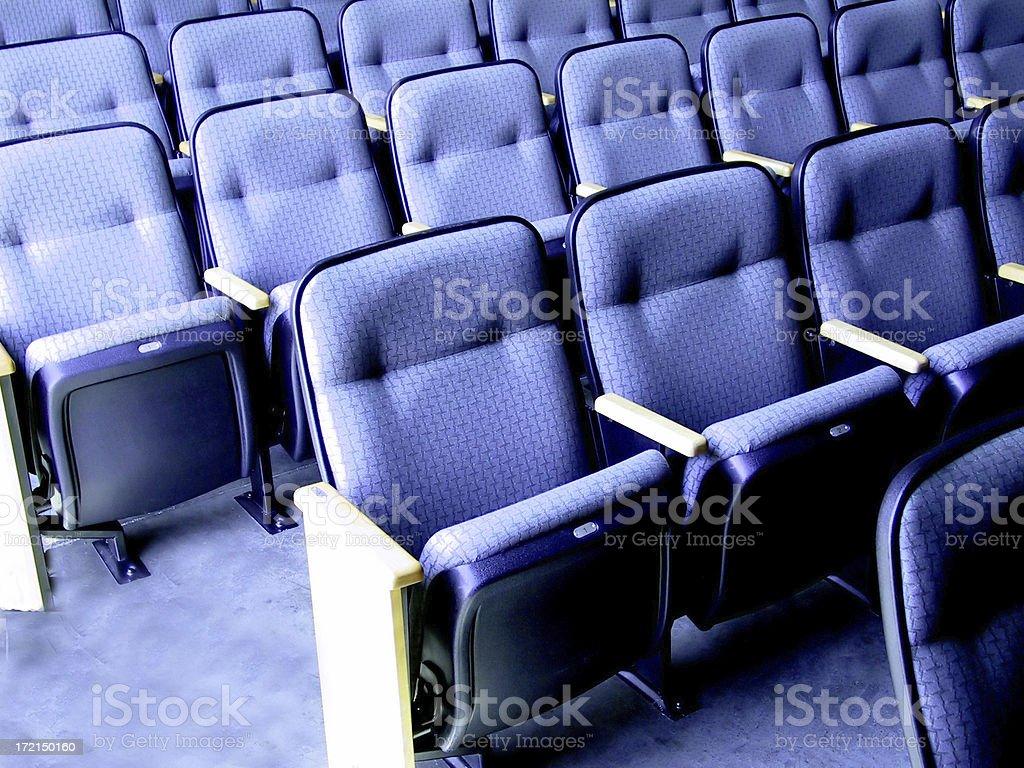 Theatre Seats-Blue royalty-free stock photo