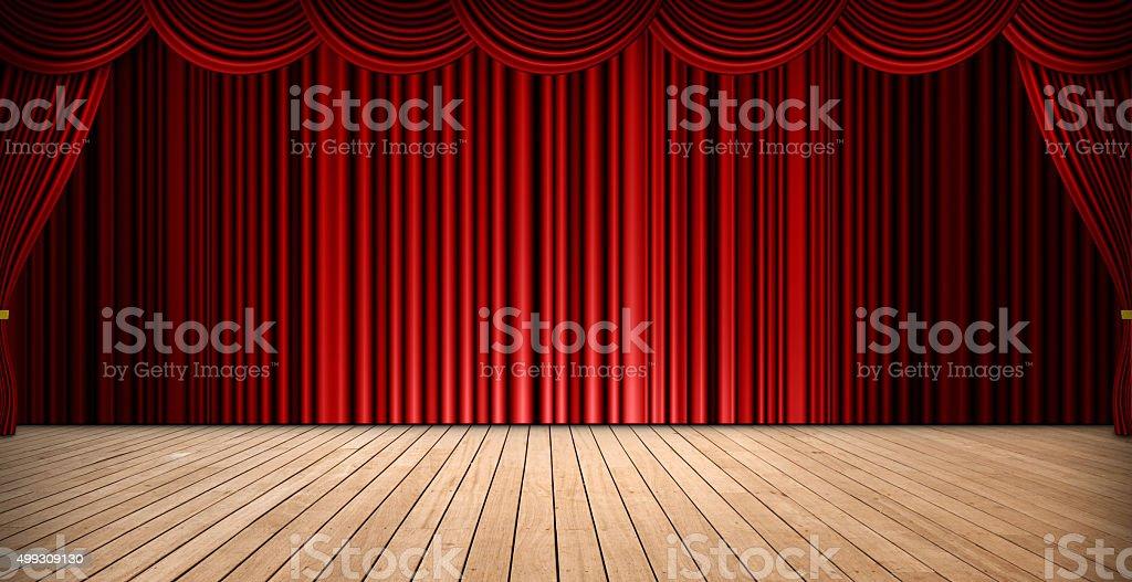 Theatre stage stock photo