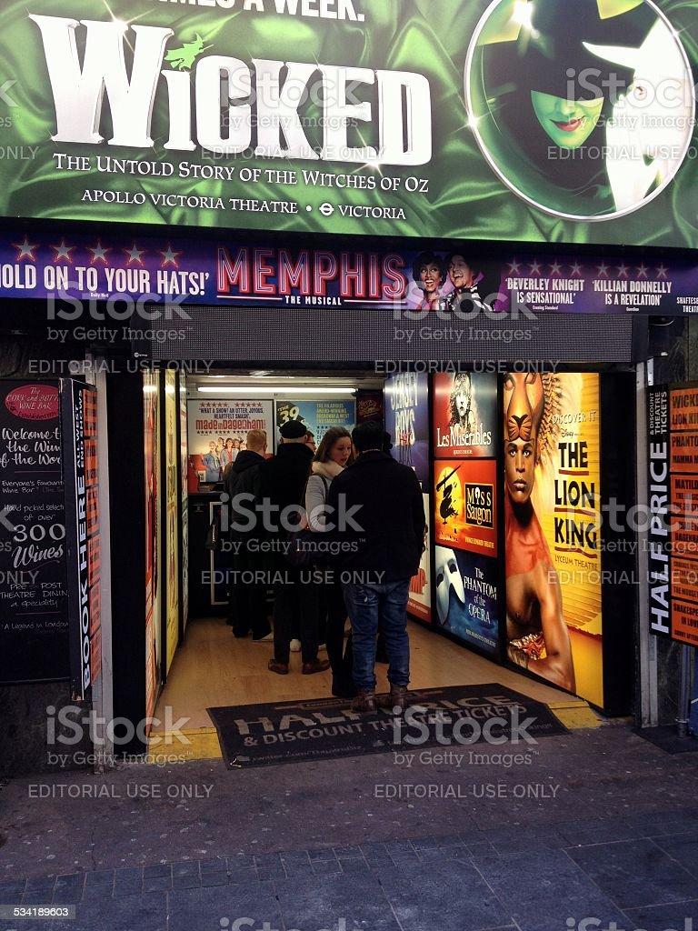 Theatre Ticket Sales stock photo