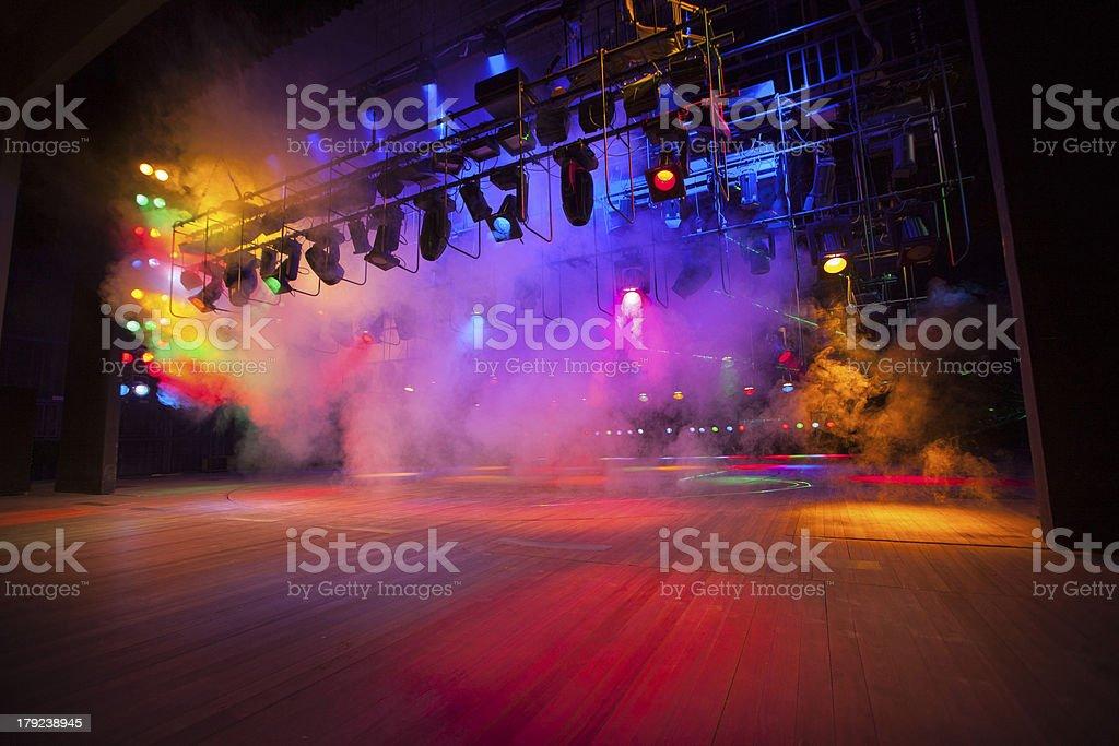 Theatrical light stock photo