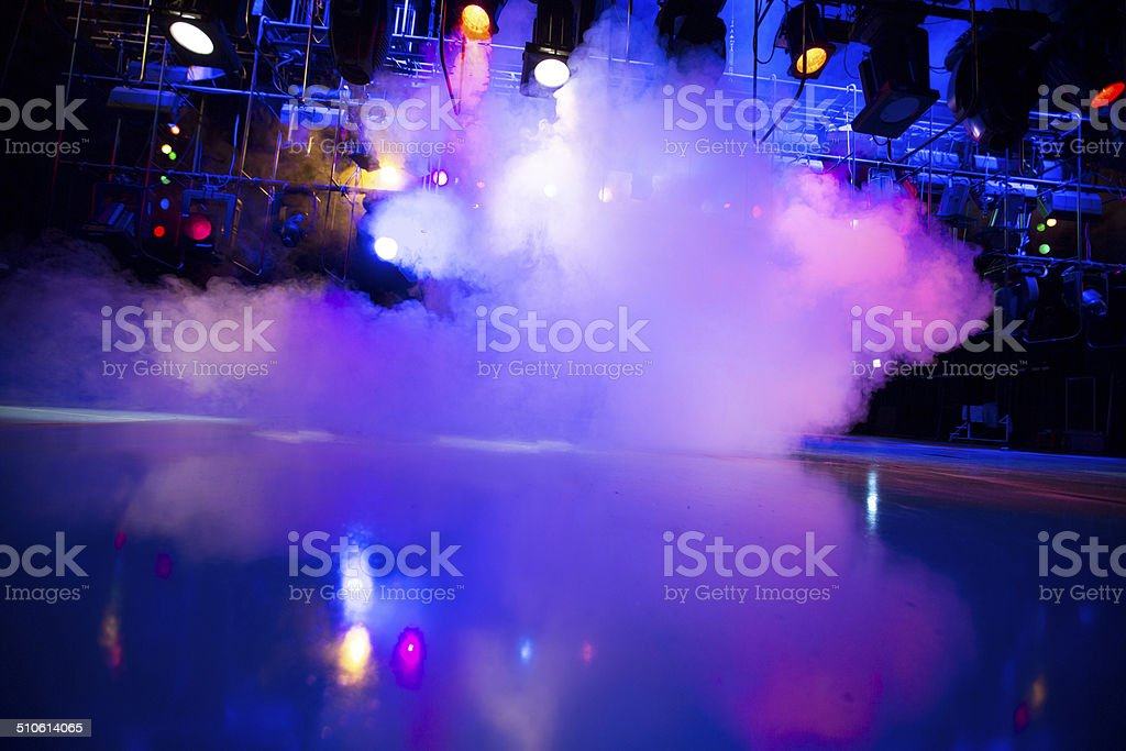 Theatrical light stock photo