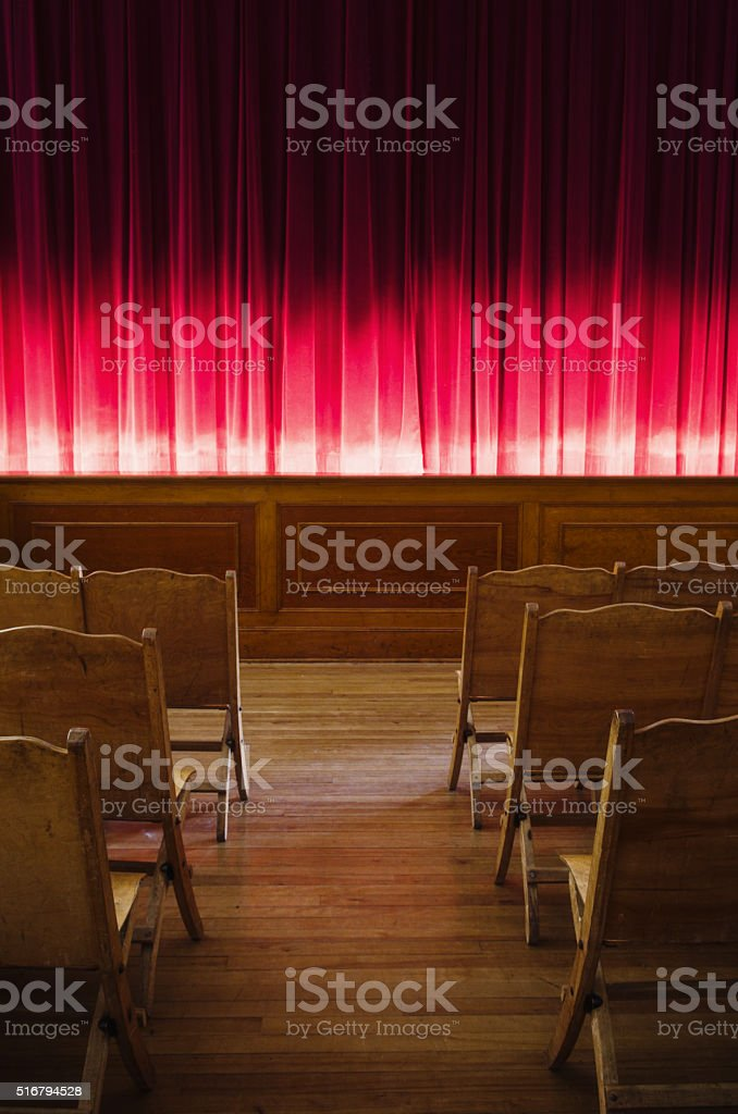 Theatrical Stage stock photo