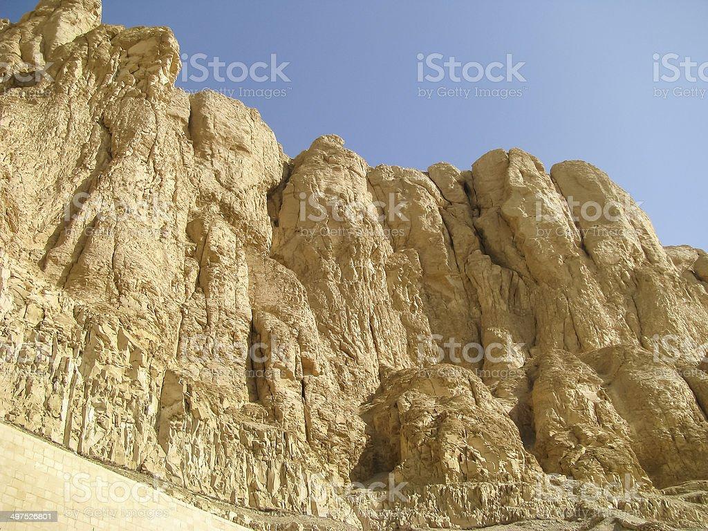 Theban mountain in Luxor stock photo