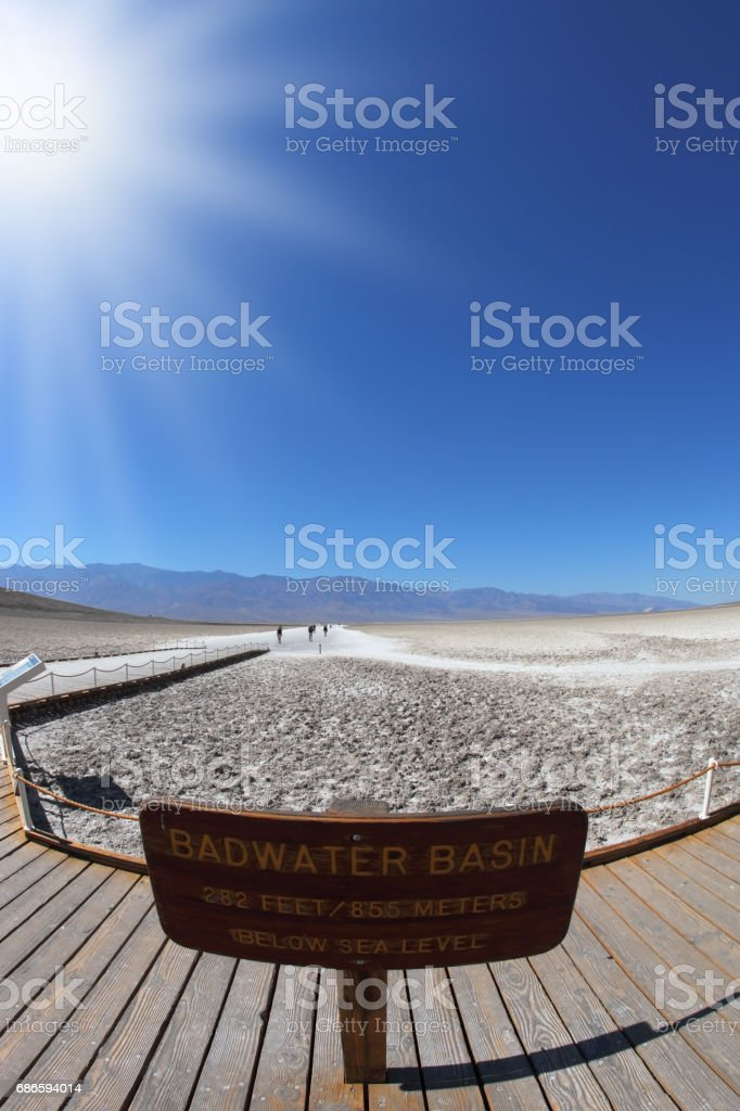 TheDeath Valley - 'Bad Water' royalty-free stock photo