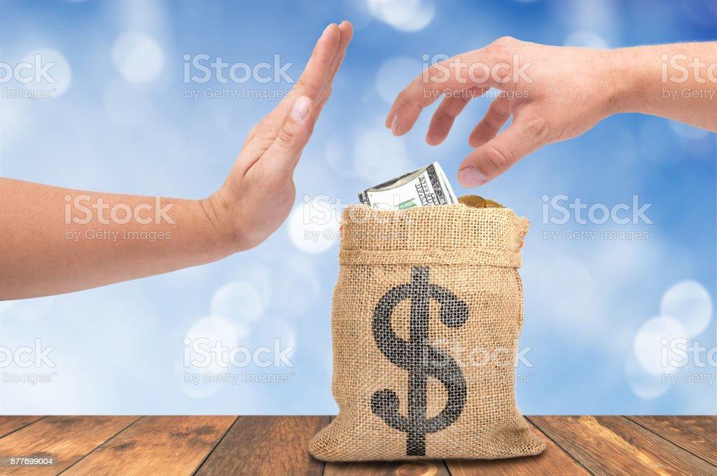 A theft money concept stock photo