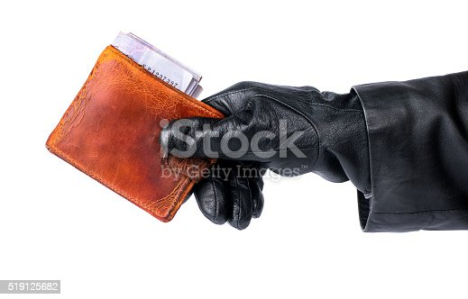 istock Theft old wallet 519125682