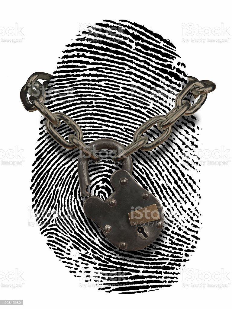 ID theft with open lock stock photo