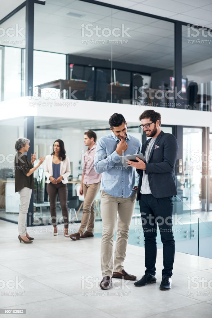 Their big plans are all coming together stock photo
